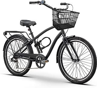 sixthreezero EVRYjourney Fully Loaded Men's Hybrid Bike, 26 Inches, 7-Speed, Matte Black