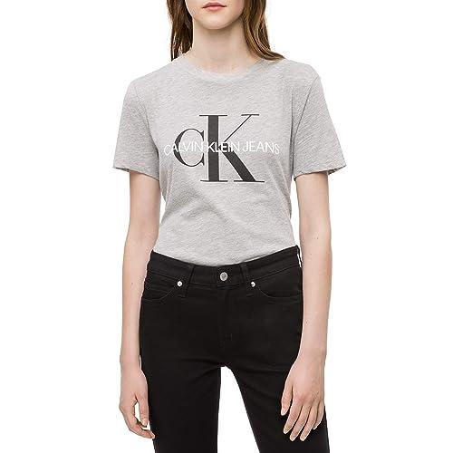 5fb73339a Calvin Klein womens Short Sleeve T-Shirt Monogram Logo