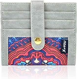 Front Pocket Wallet Credit Card Holder Card Wallet with Snap Bifold Card Case for Men & Women