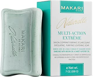 Makari Naturalle Multi-Action Extreme Skin Lightening Soap 7oz. – Exfoliating & Moisturizing Bar Soap With Argan Oil & SPF 15 – Hydrating & Regulating Treatment for Dark Spots, Acne Scars & Blemishes