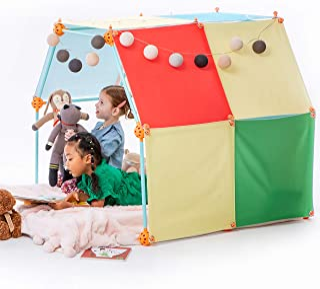 Kizihaus Fort Building kit (Balls and Sticks Kit) with Storage Bag - Kids Fort | Fort kit | Fort Builder | Indoor Fort | B...