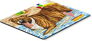 Caroline's Treasures Beach Bum Staffie Mouse Pad, Hot Pad or Trivet, Multicolor (AMB1338MP)
