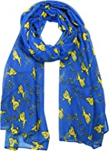 Divine Nine Depot Sigma Gamma Rho Blue and Gold Oversized Viscose Poodle Scarf (36x72 inches)
