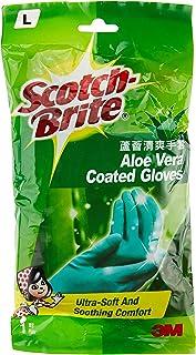 Scotch-Brite Aloe Vera Coated Gloves L, Green