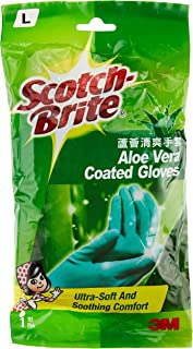 Scotch-Brite Aloe Vera Coated Gloves L, Green