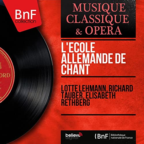 Lécole allemande de chant (Mono Version) de Richard Tauber ...