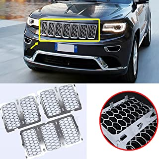 AVOMAR 7PCS Latest Honeycomb Matte Mesh Front Grill Grille Inserts Cover Kit Compatible for 2014 2015 2016 Jeep Grand Cher...