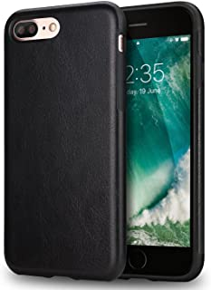TENDLIN iPhone 7 Plus Case iPhone 8 Plus Case Premium Leather Outside and Flexible TPU Silicone Hybrid Slim Case for iPhon...