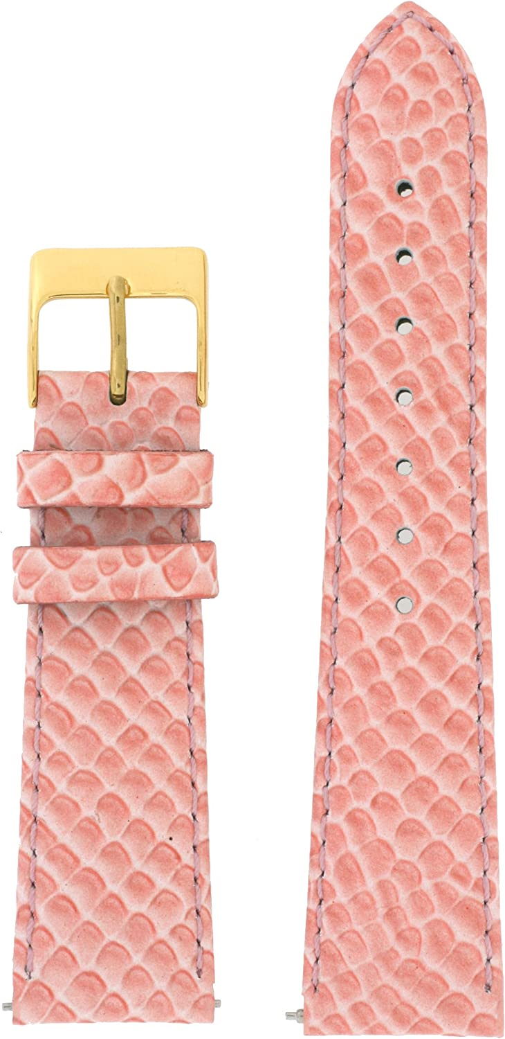 1 year Our shop OFFers the best service warranty Watch Band Snake Grain Genuine Leather 2 Change Easy Salmon Pink