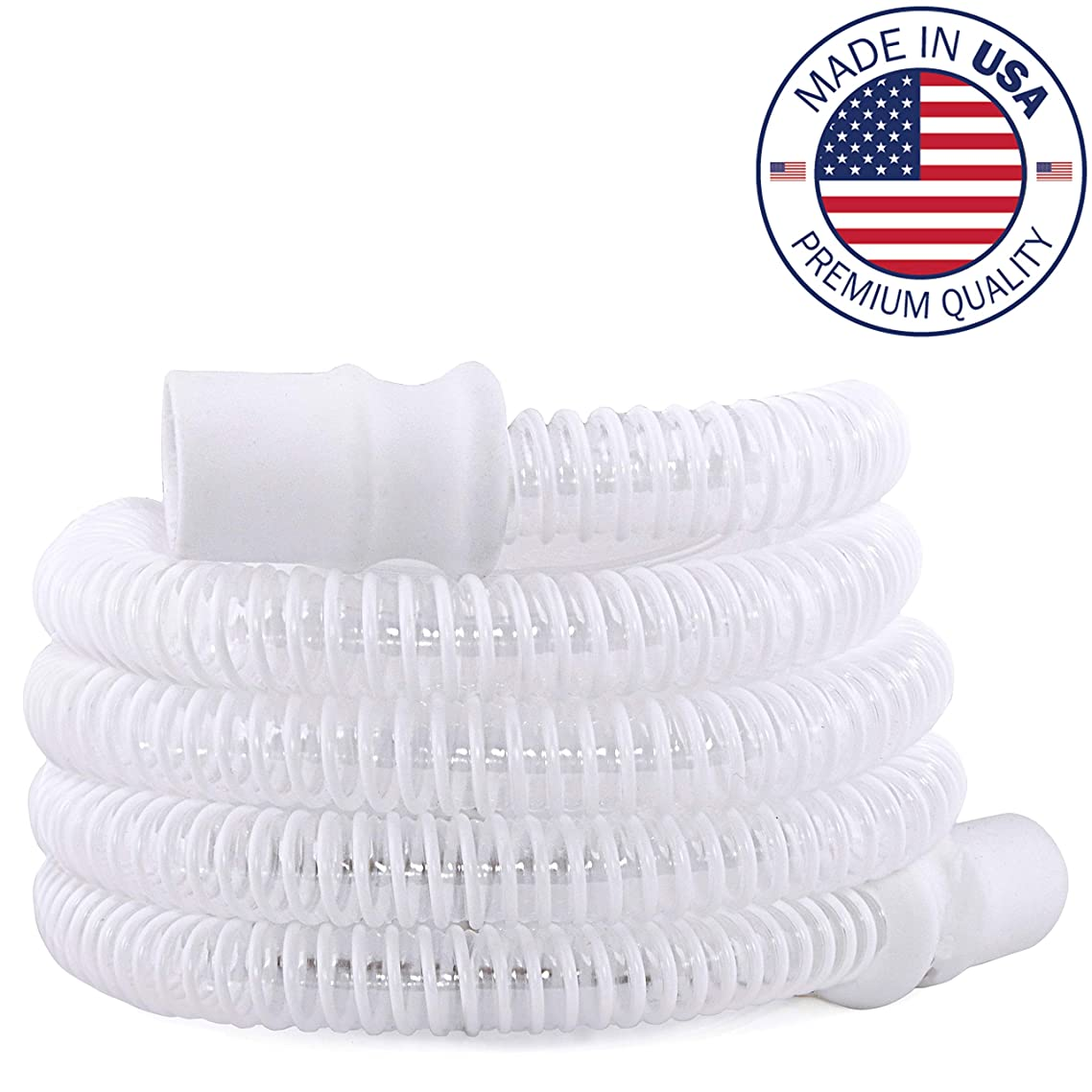 Made in USA, High Performance CPAP and BIPAP Tubing Hose with Ergonomic Cuff, by Vaunn Medical