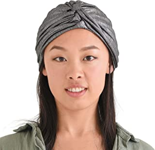 Womens Fortune Teller Turban - Metallic Afro Accessory Headwrap Hair Chemo Hat