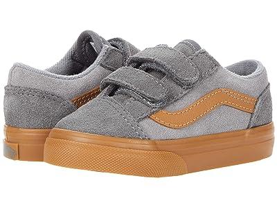 Vans Kids Old Skool V (Infant/Toddler) ((Suede Gum) Frost Gray/Pewter) Boys Shoes