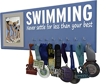 RunningontheWall Swimming Medals Ribbons Display Kids,...