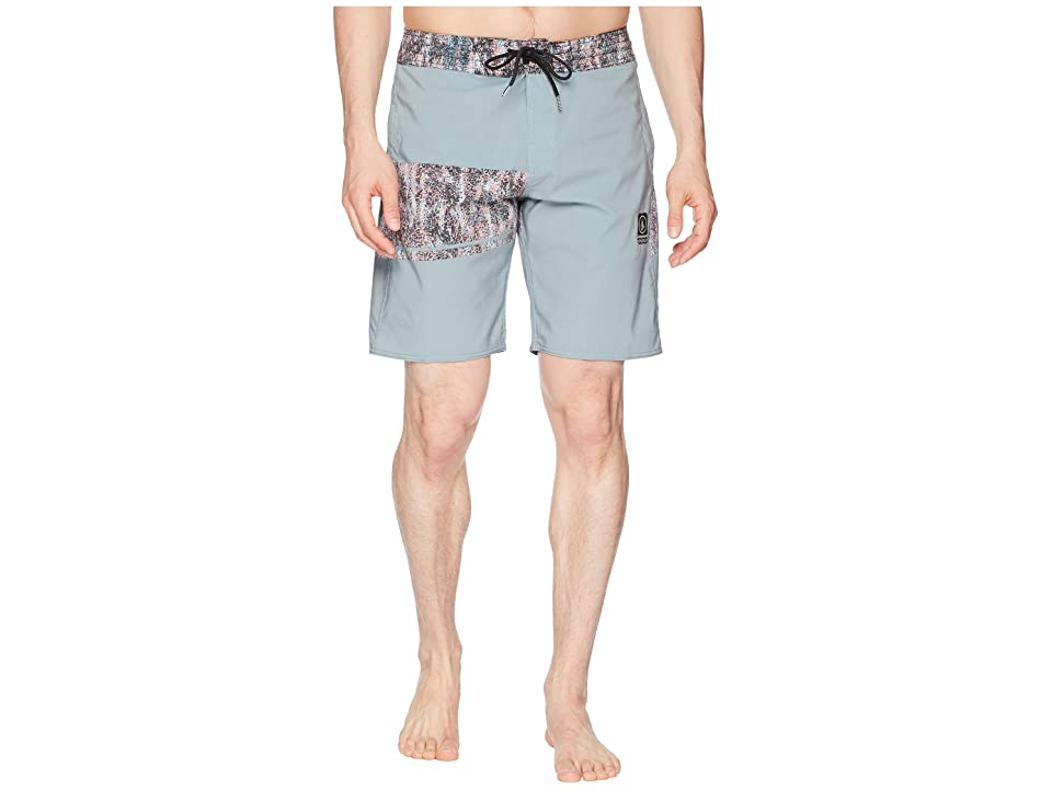 Volcom 3 Quarta Stoney 19 Boardshorts (Misty Blue) Men