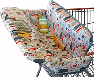 Shopping Cart Cover for Baby or Toddler | 2-in-1 High Chair Cover | Compact Universal Fit..
