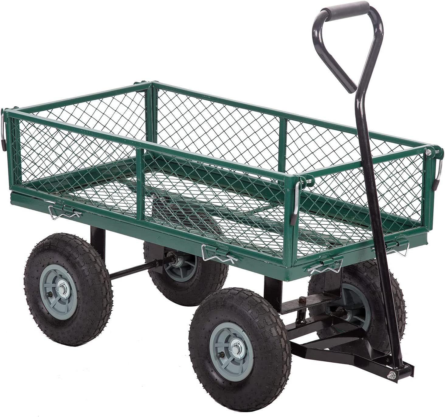 Gorilla Carts with Removable shopping Save money Sides Weight Heavy-D 400lb Capacity
