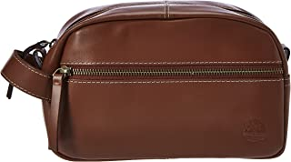 Timberland Men's Leather Toiletry Bag Travel Kit Accessory