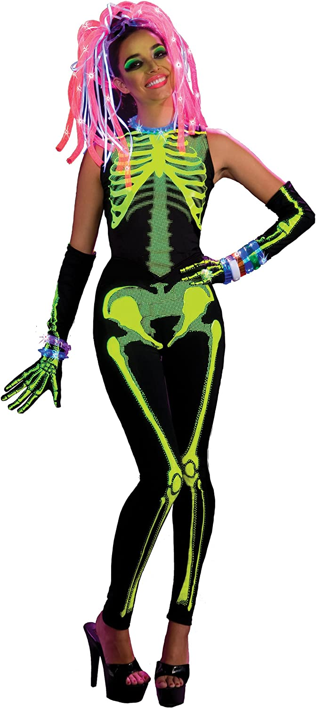 Haunted Rave  Ravin' Skelee Girl Costume  ADULT STANDARD