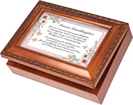 Dearest Granddaughter Wood Finish Jewelry Music Box Plays Tune You Are My Sunshine