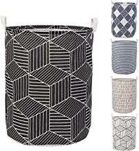 HOKIPO® Folding Laundry Basket for Clothes, Round Collapsible Storage Basket - Large 43 LTR (AR2540)