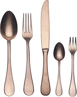 Mepra Vintage 1098VI22030D Dolce 30 Pcs Kitchen Set – Matt Bronze Tableware, Dishwasher Safe Cutlery