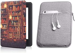 Capa Kindle 10ª geração com iluminação embutida Library Silicone - Função Liga/Desliga - Fechamento magnético + Bolsa Slee...