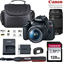 $509 » Canon EOS Rebel T7 DSLR Camera with 18-55mm & 75-300mm Zoom Lens Bundled Kit with 128GB Memory & Case (Holiday Special)