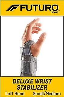 تثبیت کننده مچ دست Futuro Deluxe ، پشتیبانی تثبیت کننده محکم ، دست چپ ، کوچک / متوسط ، خاکستری
