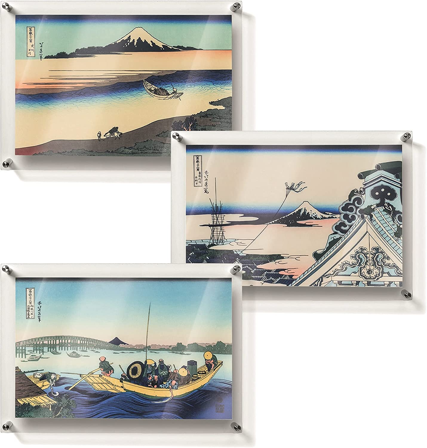 Trewern Japanese Wall Art - Beautiful 3 Piece Wall Art Set, Japandi Style Living Room Wall Art, and Room Décor for Men