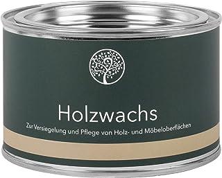 Lignocolor Holzwachs Möbelwachs natürliches Wachs auf Leinölbasis Holzpflege Holzschutz 375 ml, Weiss