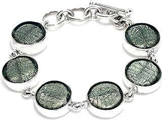 """Gabriella Nanni, Bracciale in argento 925 con Vetro di Murano - """"Vetro Sommerso - Bracciale Tondi"""""""