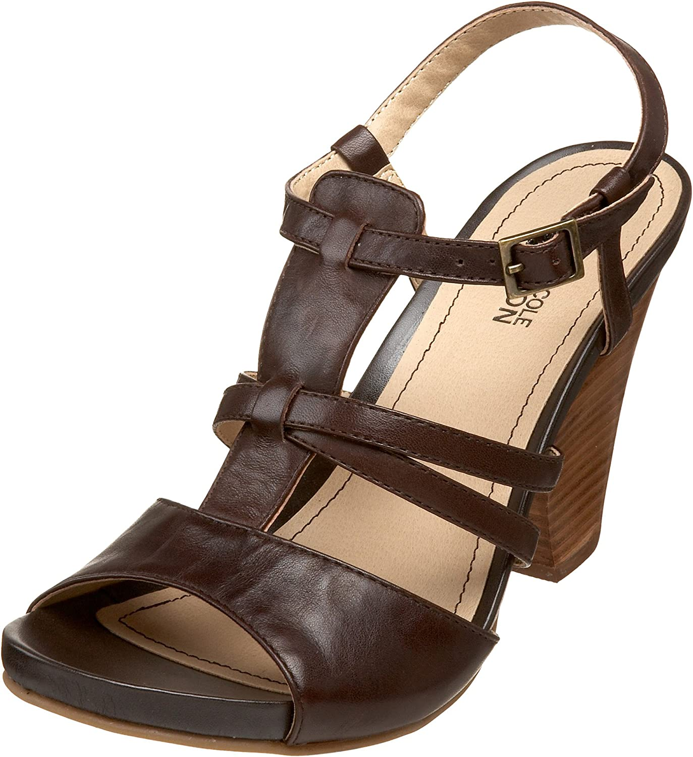 Kenneth Jacksonville Mall Cole REACTION Women's Pinecone T-Strap Super popular specialty store Sandal