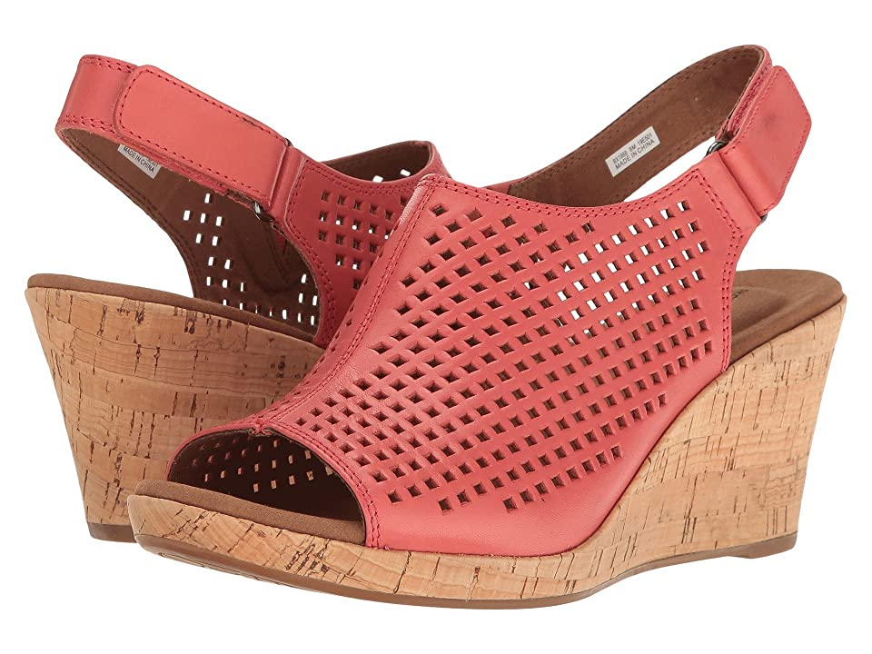 Rockport Briah Perf Sling (Coral Leather) Women