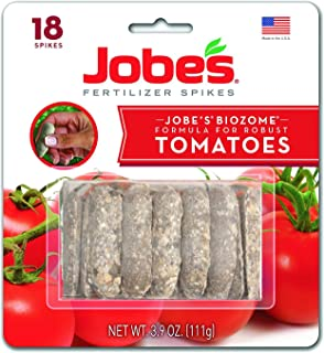 Jobe's Tomato Fertilizer Spikes, 6-18-6 Time Release Fertilizer for All Tomato Plants, 18 Spikes per Blister Package