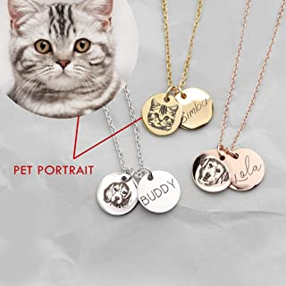 Pet Memorial Jewelry Custom Pet Necklace Animal Lover Dog Cat Lover Gift for Her Personalized Gift Necklace Dog Mom - CN-AP