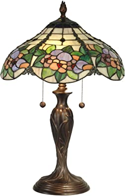 Dale Tiffany TT90179 Table Lamp, Antique Bronze