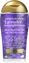 OGX Hydrate & Color Reviving + Lavender Luminescent Platinum Penetrating Oil, 3.3 Ounce