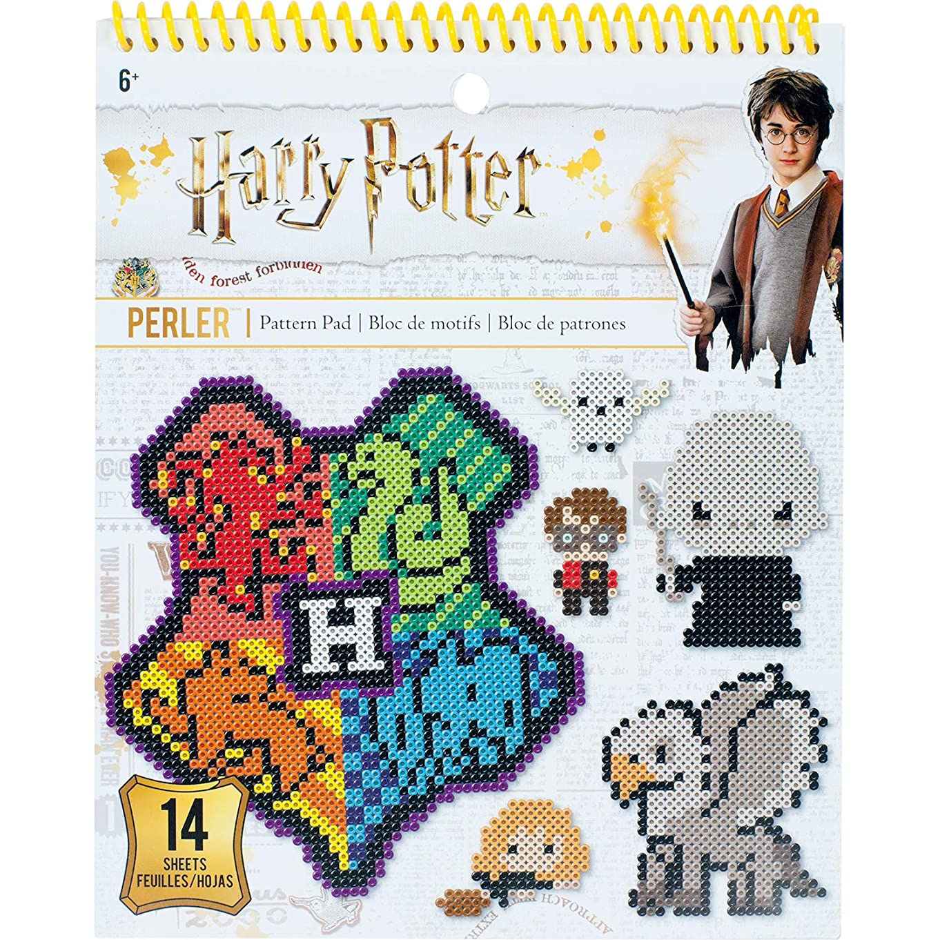 Perler Beads Harry Potter Pattern Instruction Pad, 53 Patterns, Multicolor