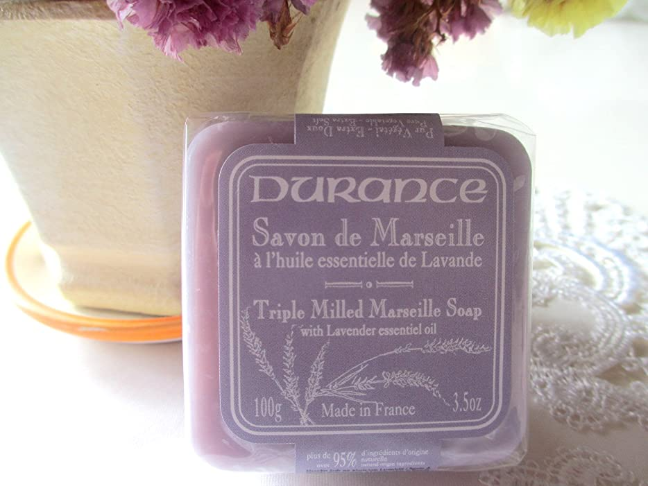 デュランス 【マルセイユソープ】 ラベンダー 100g 95%以上天然成分 洗顔 全身 南仏プロヴァンス