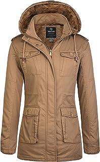 Wantdo Women`s Warm Sherpa Lined Parka Coat with Removable Hood Jacket