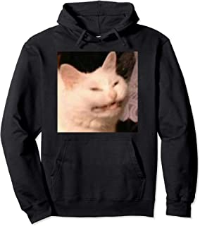 Confused Laughing Cat Dank Meme Pullover Hoodie