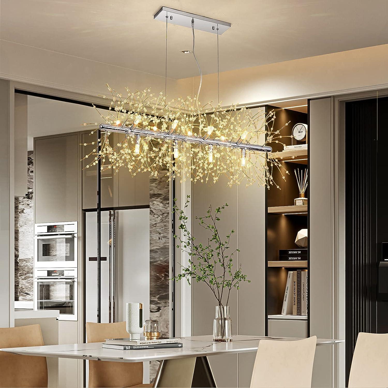並行輸入品 Modern Chandeliers Firework 12-Light Pendant Lighti LED 売却 Crystal