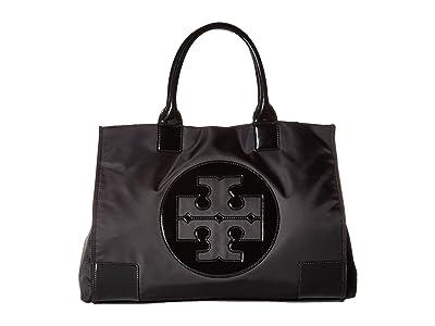 Tory Burch Ella Tote (Black/Black) Tote Handbags