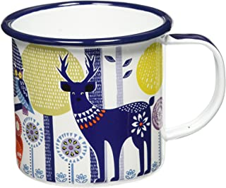 Folklore AFOL033 Day Design Enamel Camping Coffee Mug,