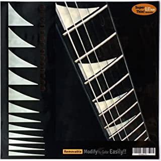 Fretboard Markers Inlay Sticker Decals for Guitar & Bass - Shark-Fin Jackson Style with Rosewood Dots