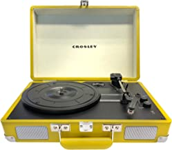 Crosley CR8005D-SU Cruiser Deluxe Bluetooth Sulphur Portable 3-Speed Turntable