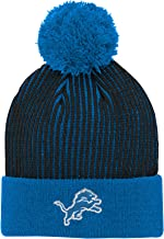 NFL Boys Hidden Rib Cuffed Knit Hat with Pom