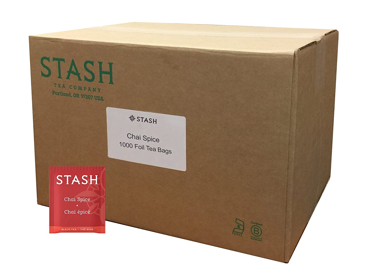 Atlanta Mall Stash Tea Chai Spice Black 1000 8.58 Our shop OFFers the best service in Pound Box Bags
