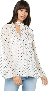 Ministry of Style Women's Illusion Bow Top