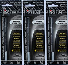 Fisher SPR4F Space Pen Black Ink Fine Point Refill, 3 Count